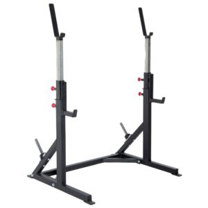 Pro Maxima FW24 Adjustable Squat Stand w Cross Member and Weight Storage